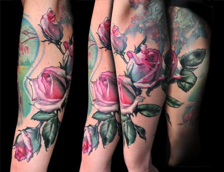 Aubrey Mennella - pink rose tattoo