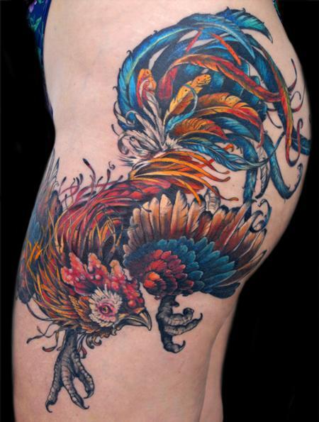 Aubrey Mennella - rooster tattoo