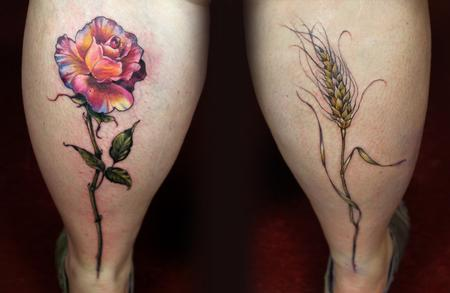 Tattoos - rose wheat tattoo  - 131943