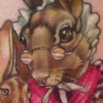 fairytale garden rabbits tattoo Tattoo Design Thumbnail