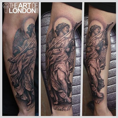 Bernini Statue Black and Grey by London Reese: TattooNOW