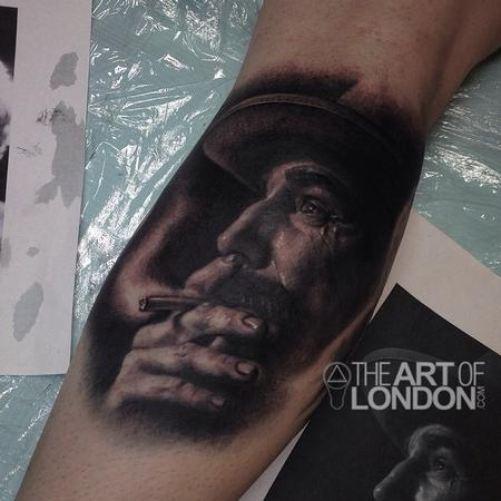 London Reese - Daniel Plainview Daniel Day Lewis There Will Be Blood Portrait Tattoo