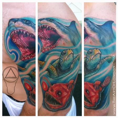 Ocean Sea Life Fish Tattoo Tattoo Design Thumbnail