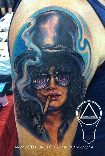 slash guns n roses tattoo by london reese tattoonow. Black Bedroom Furniture Sets. Home Design Ideas