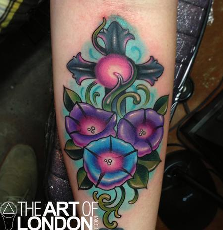 Morning Glory Flower on Tattoo Magazine Morning Glory Flower Flowers Stone Metal Cross Vines
