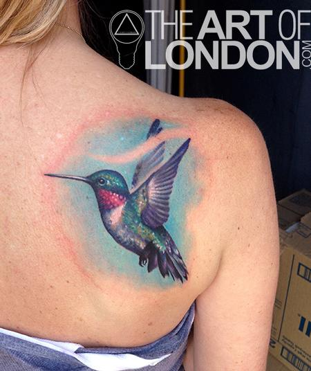 Hummingbird Tattoo Tattoo Design Thumbnail