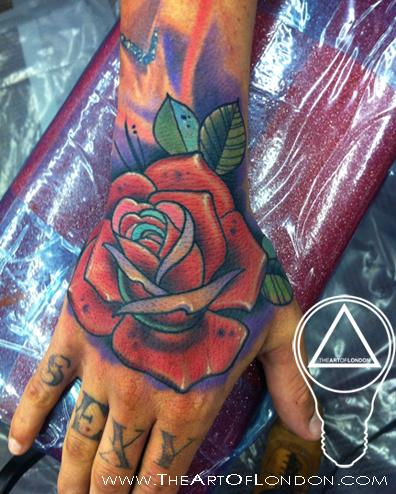 Neo traditional rose tattoo by london reese tattoonow for Neo traditional rose tattoo
