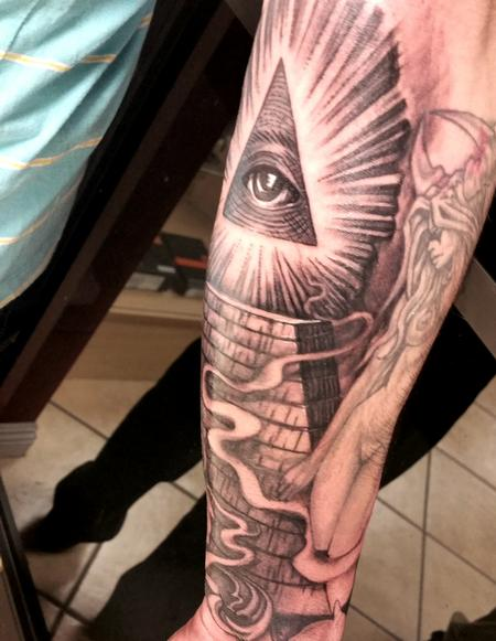 Illuminati All Seeing Eye Tattoo By George Muecke Tattoos