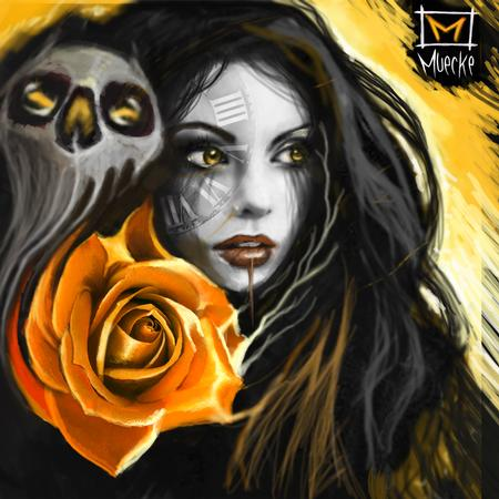 George Muecke - Rose Muecke art Muecke painting tattoo digitial sketch