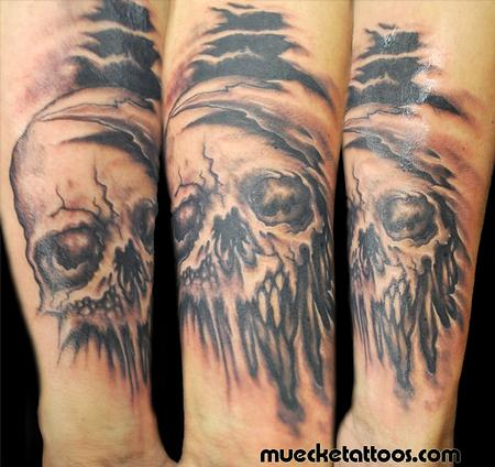 George Muecke - Muecke Skull Coverup tattoo