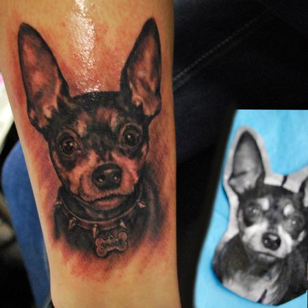 George Muecke - Portrait tattoo Muecke dog snoop dogg ink