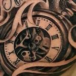 Tattoos - time tattoo clock pocket watch tommorow never comes until the next day - 128184