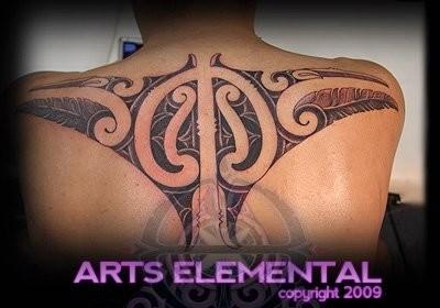 Ta moko back Tattoo Design