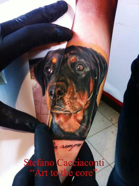Tattoos - Color dog Portrait - 94388