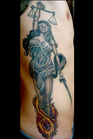 Lady justice by mason tattoonow for Tattoos of lady justice