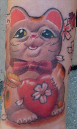 cat tattoos. Lucky Cat Tattoo