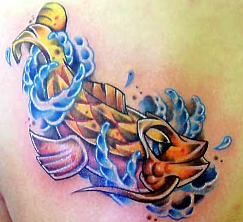 New skool fish by austin grove tattoonow for New skool tattoos
