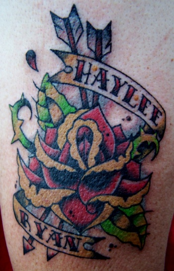 A rose 4 the grandkids by austin grove tattoonow for Tattoos with grandchildren s names