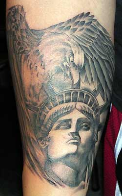 Tattoos - Lady Liberty and Eagle - 29504