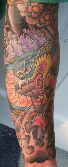 Tattoos - Snake Half Sleeve - 51063