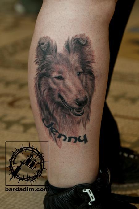 Dog Tattoo Tattoo Design Thumbnail