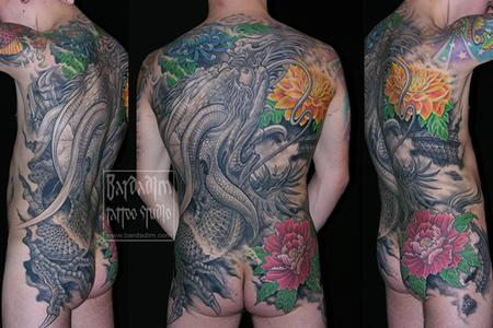 Tattoos - dragon back tattoo - 92224