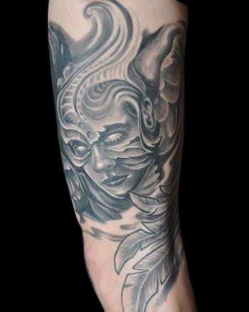Angel warrior by brandon heffron tattoonow for Warrior angel tattoos