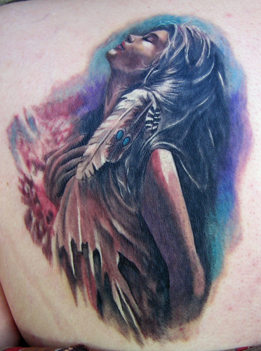Indian lady by brandon heffron tattoonow for Indian woman tattoo