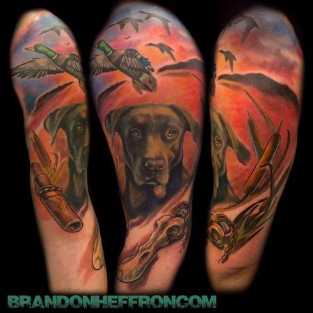 Deer hunting half sleeve tattoos