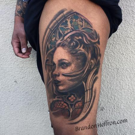 Tattoos - Lady with Stained Glass - 128458