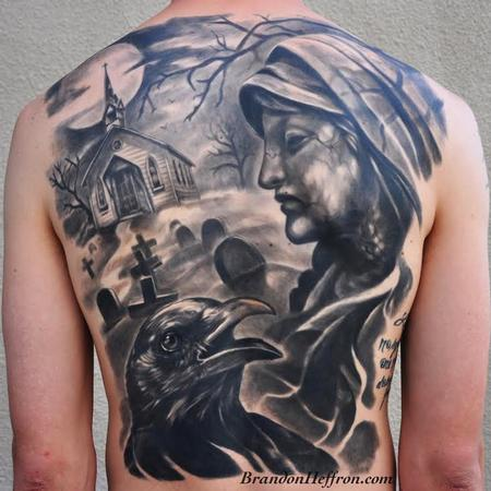 Cemetery Backpiece Tattoo Design