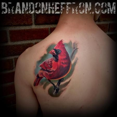 Cardinal Tattoo Design Thumbnail