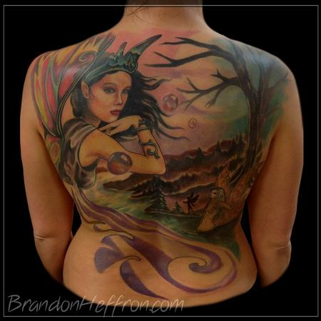 Fairy Back Piece Tattoo Design Thumbnail