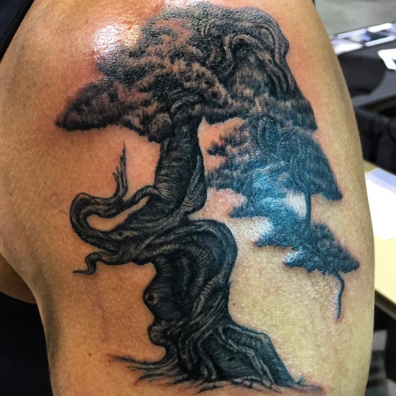 Bonsai by ben rusher tattoos for Twisted tattoo chicago