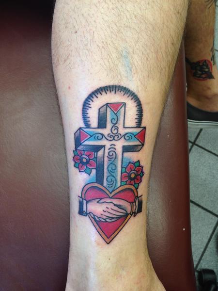 Tattoos - cross - 96364