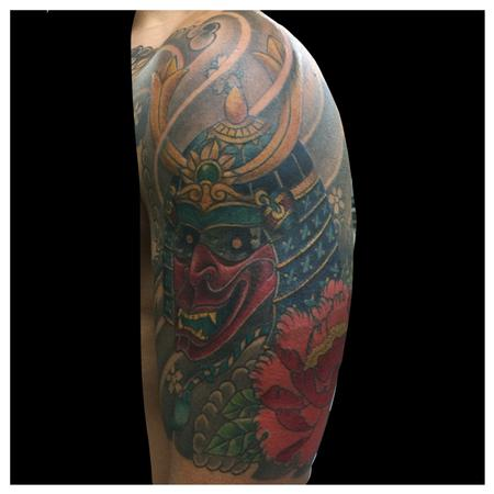 samurai mask Tattoo Design Thumbnail