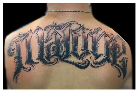 Tattoos - lettering Malone - 104166