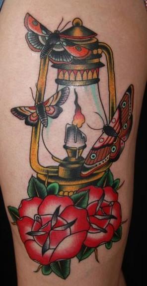 Lamp Tattoo Tattoo Design