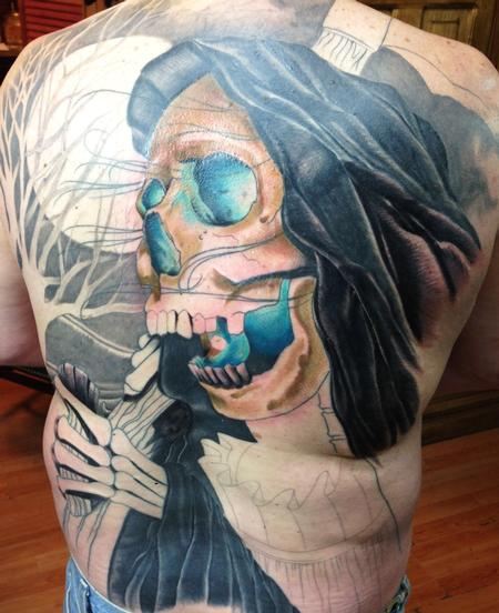 Tattoos - Grimm Reaper Full back in progress - 93717