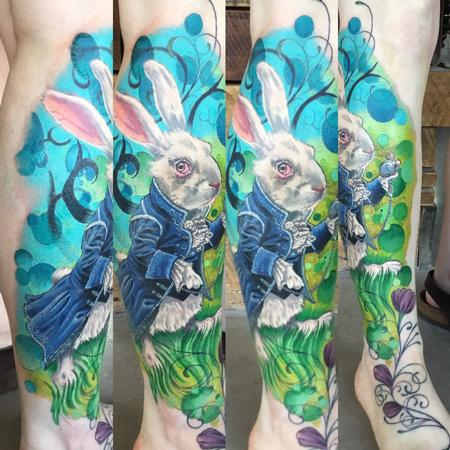 Kyle Grover - Alice in Wonderland Tattoo Reproduction