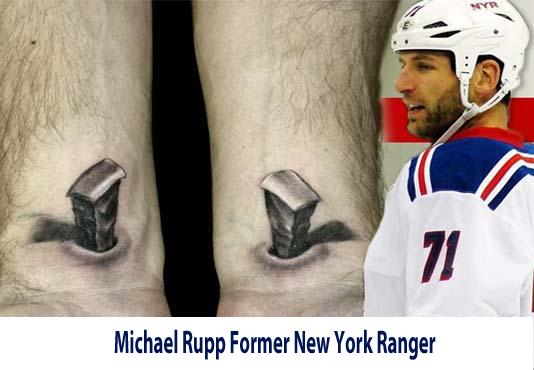 Michael Rupp former New York Ranger tattoo by Biagio.