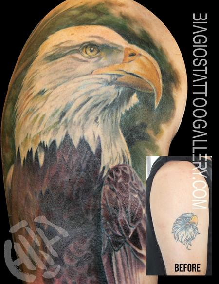 Bald Eagle Cover-Up Tattoo Design