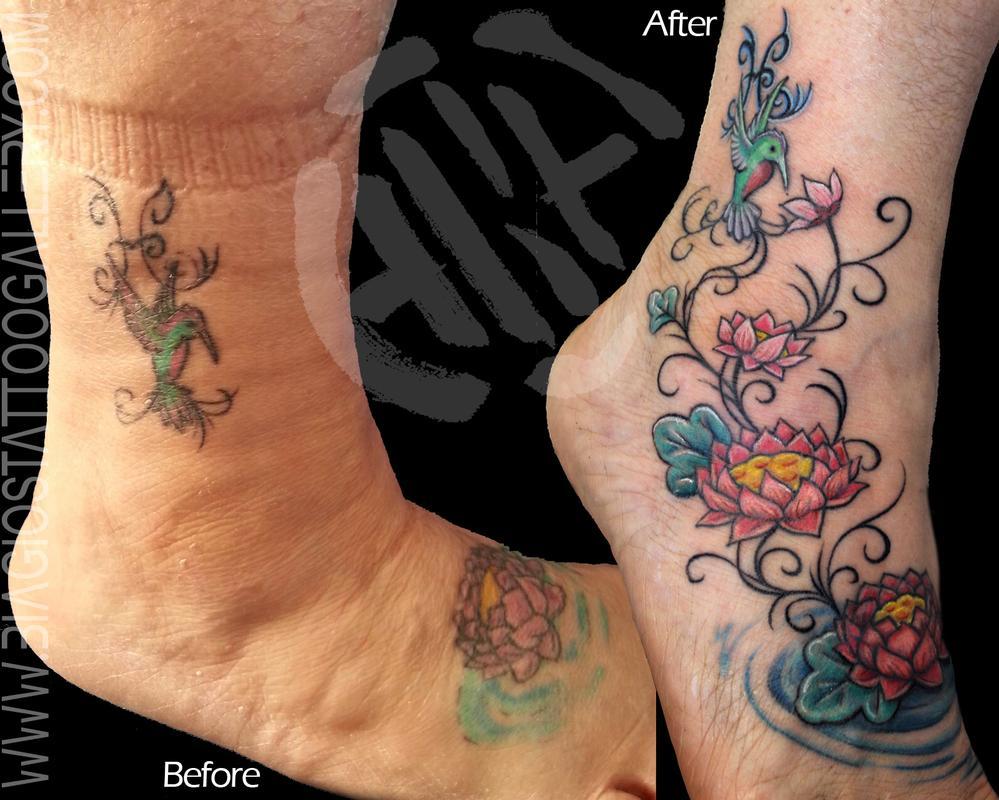 Hummingbird Flower Tattoos: Biagio's Tattoo Gallery : Tattoos : Flower : Hummingbird