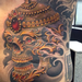 Tibetan Skull  Tattoo Design Thumbnail
