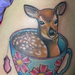 Fawn in a keycup  Tattoo Design Thumbnail