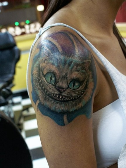 cheshire cat tattoos. New Cheshire Cat