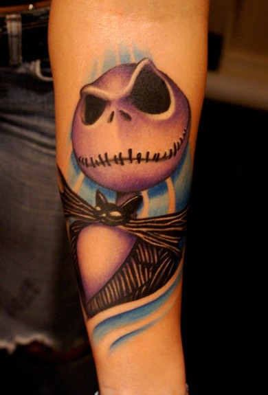 Bili Vegas - Jack Skellington tattoo
