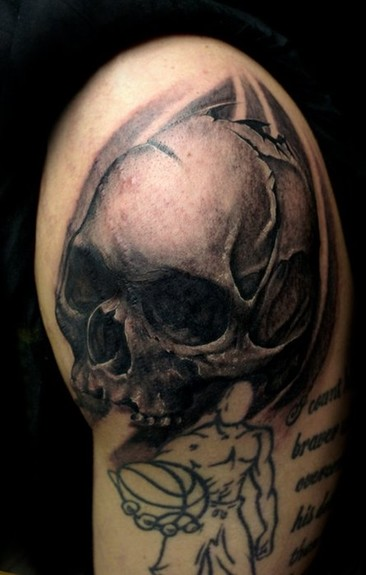 Comments Skull placed over some scars did not do and1 tattoo