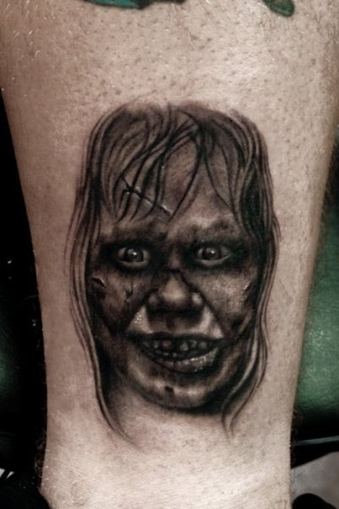 Bili Vegas - exorcist tattoo