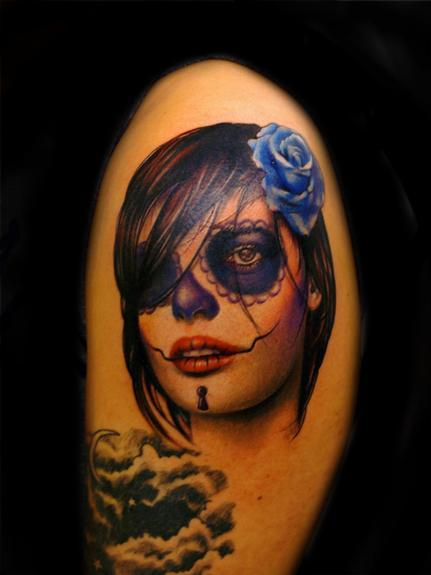 small day of dead chicka by bili vegas tattoonow